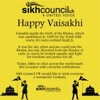 Sikh Council Happy Vaisakhi